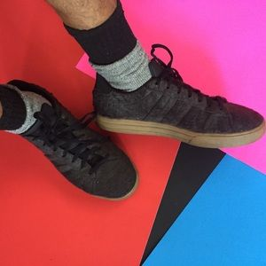 Adidas gray felt